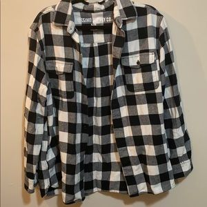 Thick checkered flannel
